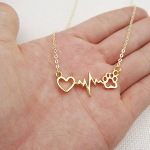 Paw Heartbeat Necklace
