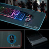 Large RGB Gaming  Mouse Pad Keyboard Mat Colorful LED Lighting with Handmade Stitched Edge 30.7in X 12in for PC,Computer,Laptop