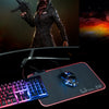 RGB Gaming  Mouse Pad Colorful LED Lighting with Handmade Stitched Edge 13.7in X9.8in for PC,Computer,Laptop