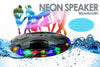 Kids Toy Cars Set,Wireless Bluetooth Speaker, Waterproof Bluetooth Speaker with Neon Fun Light Floating Speaker