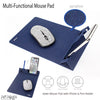 Foldable Mousepad Portable for Office Desktop Table Organize Collection ,Phone and Pens Stand Mouse Mat