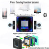 Bluetooth Water Dancing Speakers,Wireless Speaker with LED Colorful Light (support TF card)