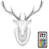 3D Deer Wall Lamp with Colorful LED Night Light and PIR Motion Sensor (Remote Control)