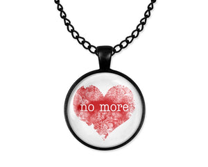Anti-Valentine's Day Blood Red Heart No More Love Cabochon Necklace