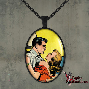 Vintage Comic Love Necklace