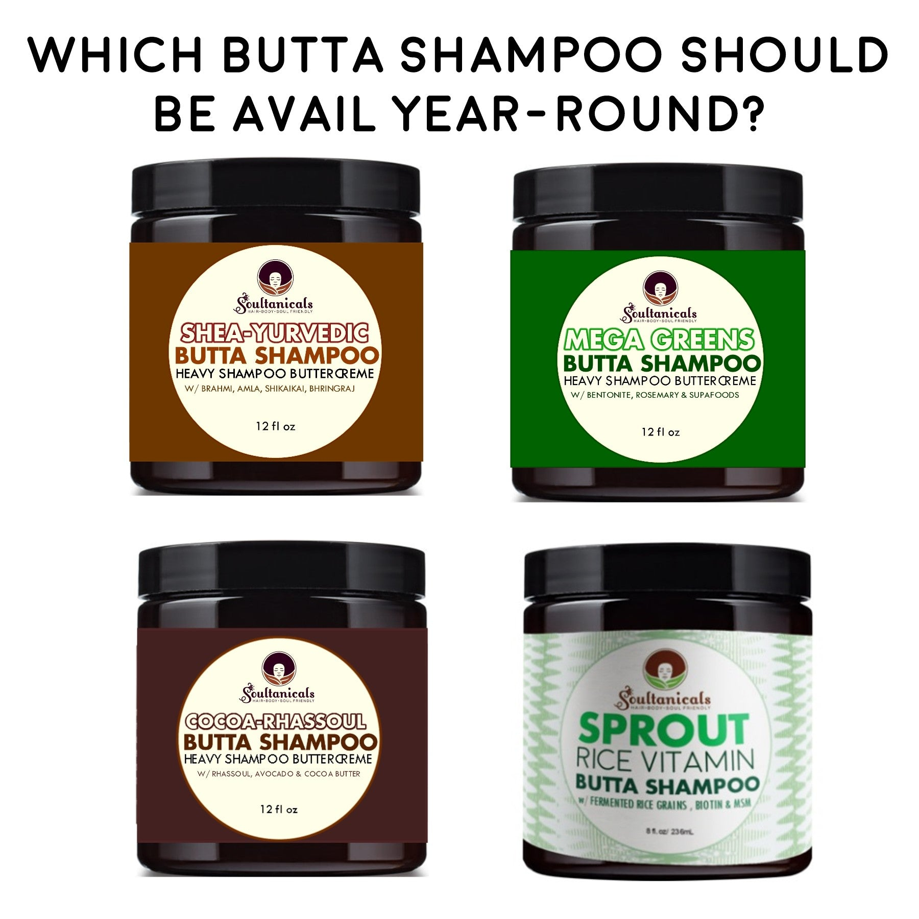 One of our Butta Shampoos will be a permanent Mane-stay! Help Us Choose...
