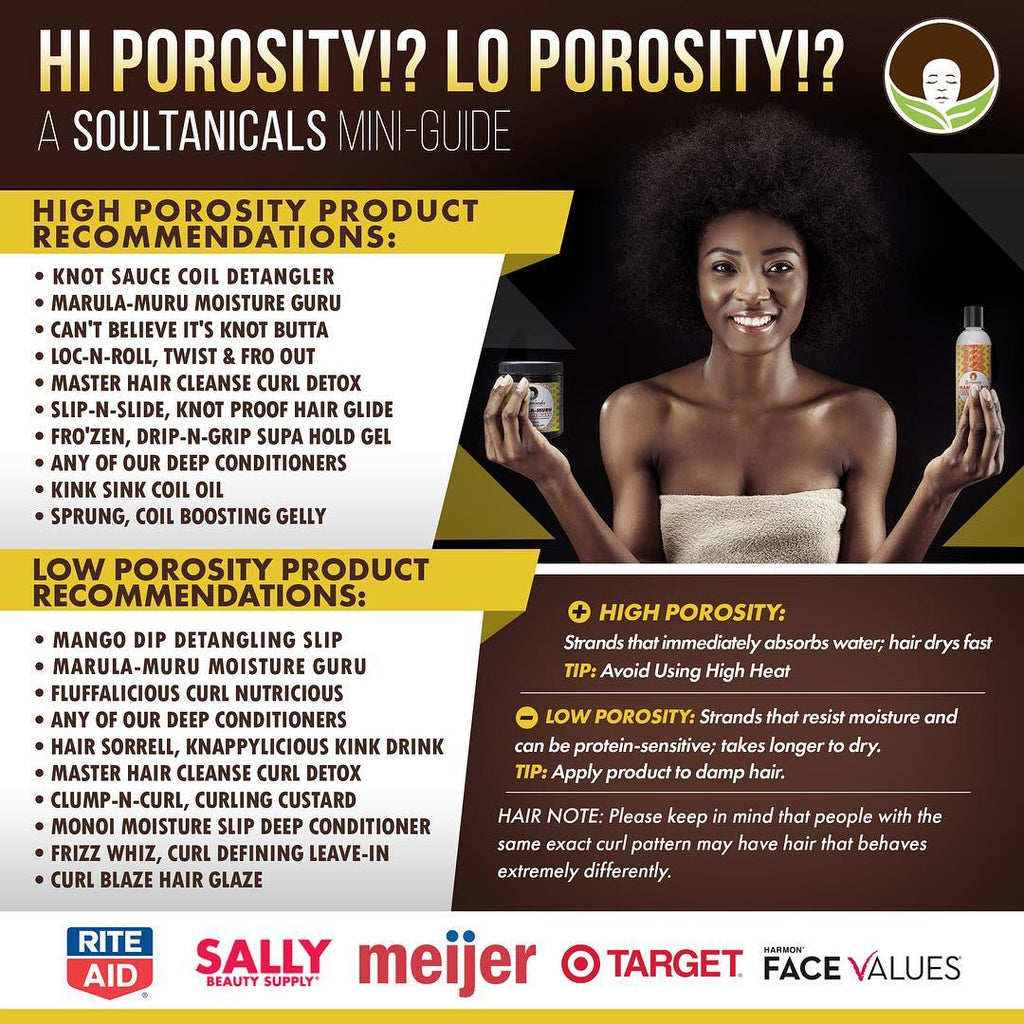 High Porosity Low Porosity Product Recommendations Soultanicals
