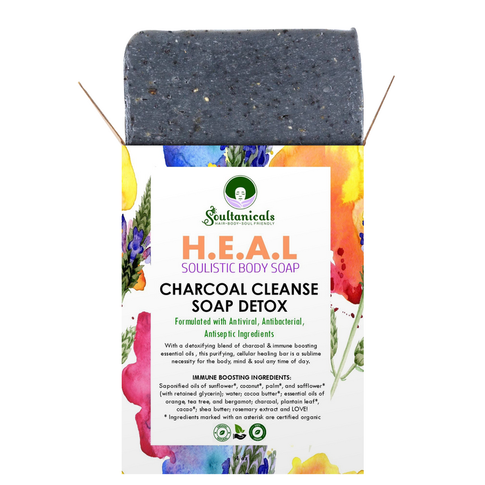 H.E.A.L. Charcoal Cleanse Soap Detox