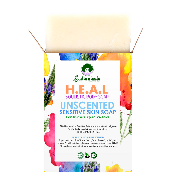 H.E.A.L. UNSCENTED Sensitive Skin Soap