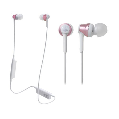 Audio Technica ATH-CKR35BT Bluetooth Wireless In-Ear Headphones (Pink)