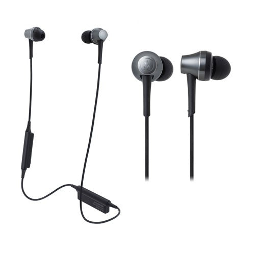 Audio Technica ATH-CKR75BT Sound Reality Wireless In-Ear Headphones (Grey)