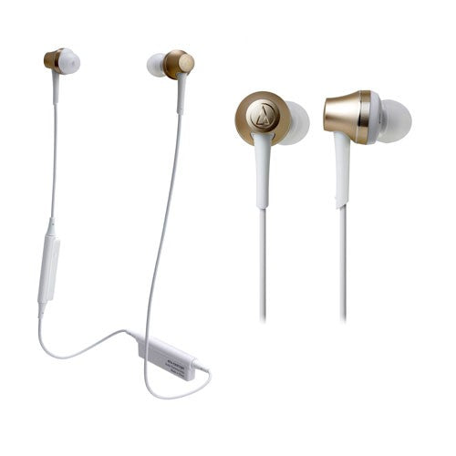 Audio Technica ATH-CKR75BT Sound Reality Wireless In-Ear Headphones (Gold)