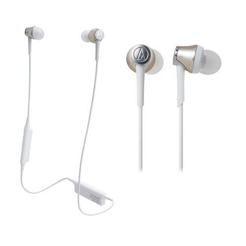 Audio Technica ATH-CKR55BT Sound Reality Wireless In-Ear Headphones (Champagne Gold)