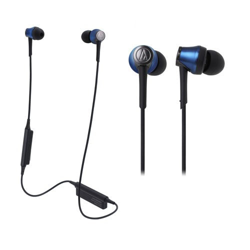 Audio Technica ATH-CKR55BT Sound Reality Wireless In-Ear Headphones (Blue)