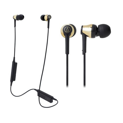 Audio Technica ATH-CKR35BT Bluetooth Wireless In-Ear Headphones (Gold)