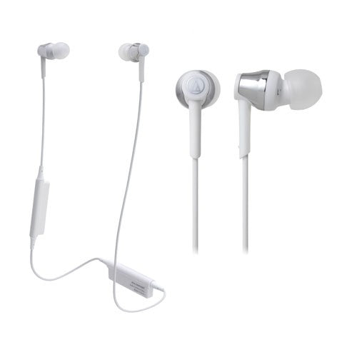 Audio Technica ATH-CKR35BT Bluetooth Wireless In-Ear Headphones (White)