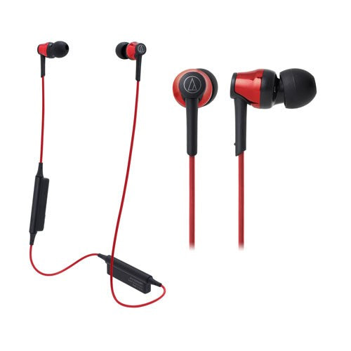 Audio Technica ATH-CKR35BT Bluetooth Wireless In-Ear Headphones (Red)