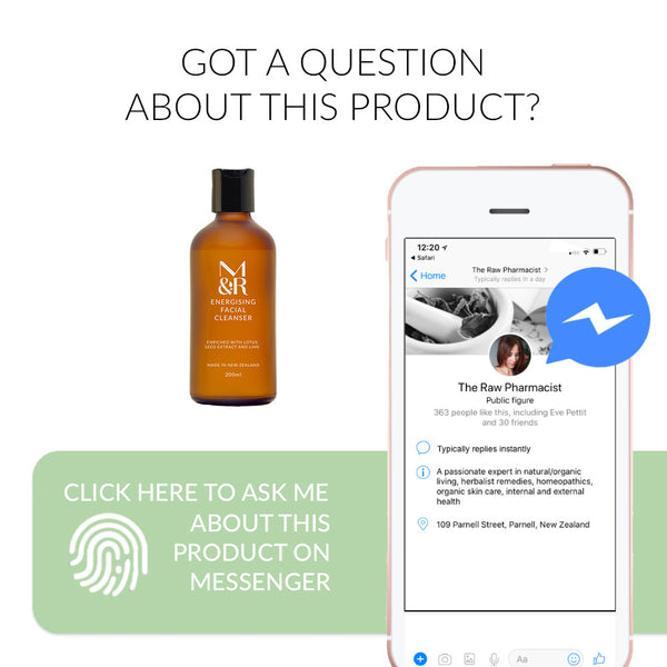 Got a question about energising facial cleanser ask now on FB Messenger