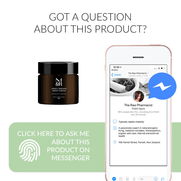 Ask me a question about Sweet Dreams Night Cream on Messenger Now
