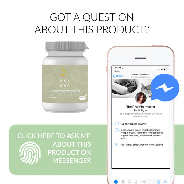 Ask me a question about Zinc Max on Messenger Now