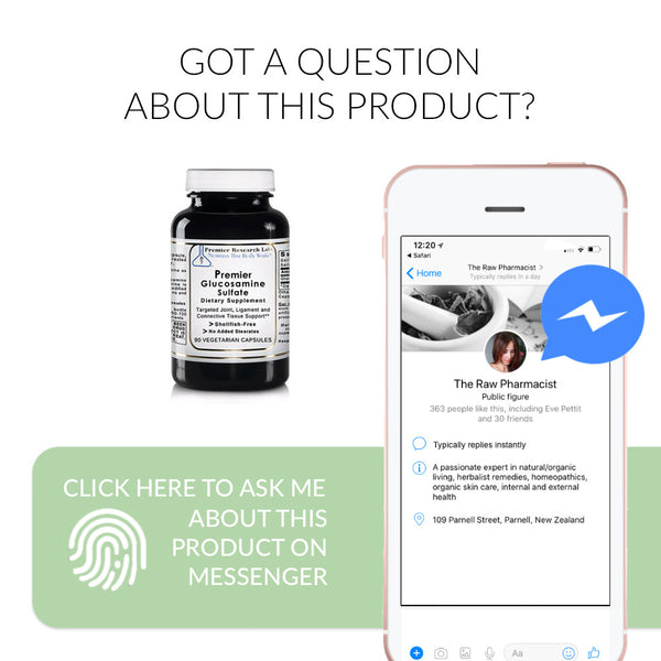 Ask me a question about Glucosamine Sulfate on FB Messenger
