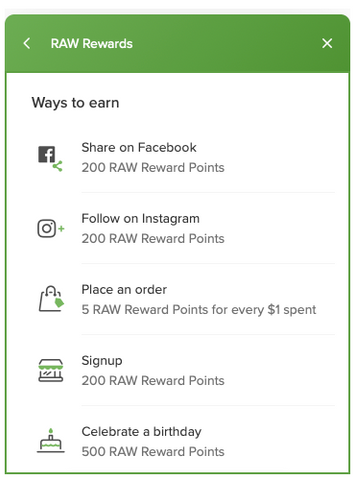 How to Earn RAW Rewards