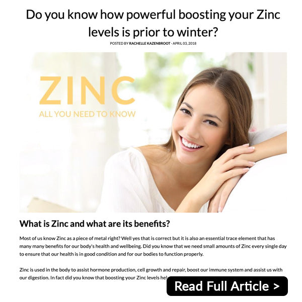 Related Zinc Article by the raw pharmacist