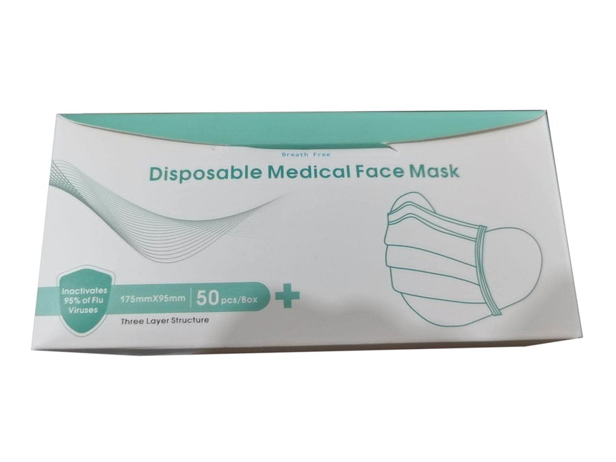 Breath Free Disposable 3-Layer Medical Face Mask