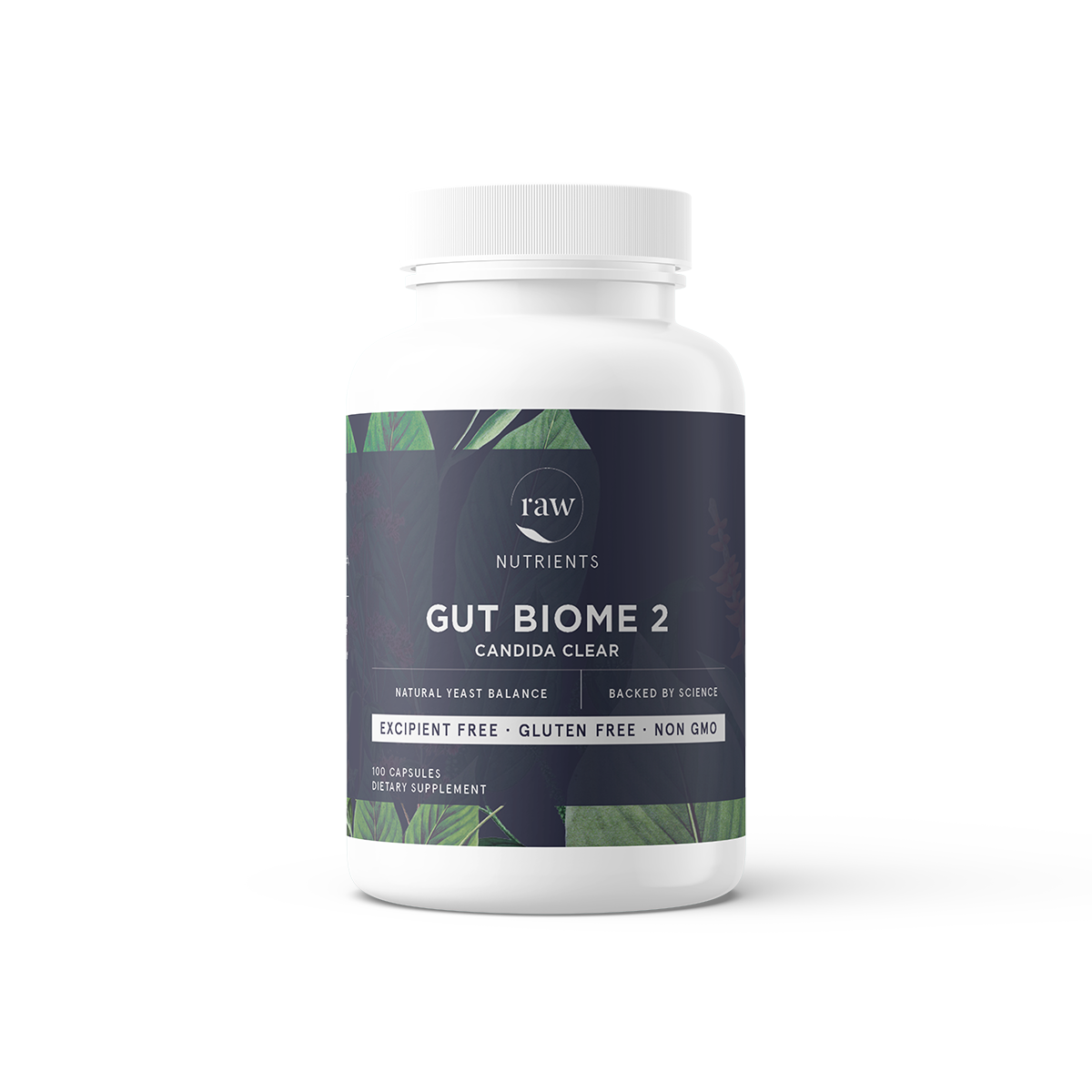 Raw Nutrients Gut Biome 2 Candida Care