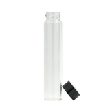 109 mm Glass Pre-Roll Tubes Black Cap - 51 units - weed packaging and beyond