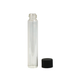 115 mm Glass Pre-Roll Tubes Child Resistant Black Cap - 100 units - weed packaging and beyond