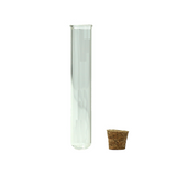 120 mm Glass Pre-Roll Blunt Tubes Round Bottom with Cork Stopper - 100 units - weed packaging and beyond