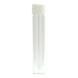 120 mm Glass Pre-Roll Tubes Child Resistant White Cap - 100 units - weed packaging and beyond