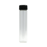 120 mm Hefty Glass Pre-Roll Tubes Child Resistant Black Cap - 60 units - weed packaging and beyond