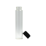 120 mm Hefty Glass Pre-Roll Tubes Child Resistant Black Cap - 100 units - weed packaging and beyond