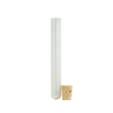 125 mm Glass Pre-Roll Joint Tubes with Cork Stopper - 100 units - weed packaging and beyond