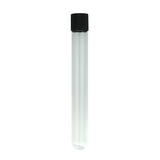 125 mm Glass Pre-Roll Tubes Black Cap - 80 units - weed packaging and beyond