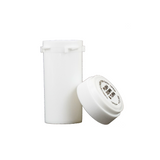 13 Dram Reversible Cap Vials Child Resistant White - 275 units - weed packaging and beyond