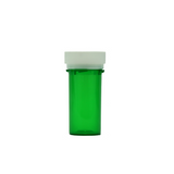 13 Dram Reversible Cap Vials Child Resistant Translucent Green - 275 units - weed packaging and beyond