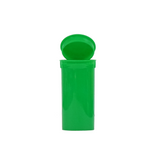 13 Dram Pop Top Bottles Child Resistant Green - 315 units - weed packaging and beyond
