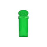 13 Dram Pop Top Bottles Child Resistant Translucent Green - 315 units - weed packaging and beyond