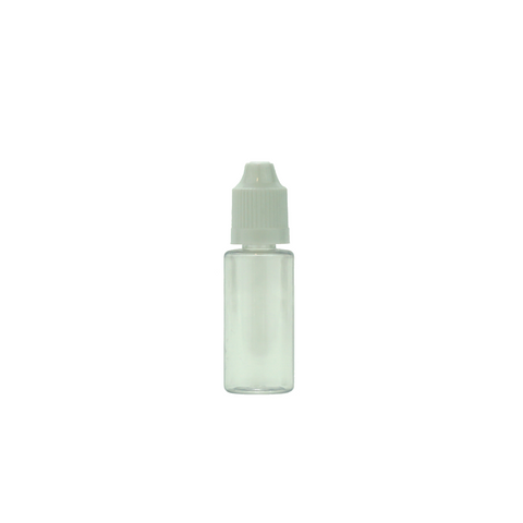 15 ml Plastic Dropper Bottles Child Resistant Clear - 100 units - weed packaging and beyond