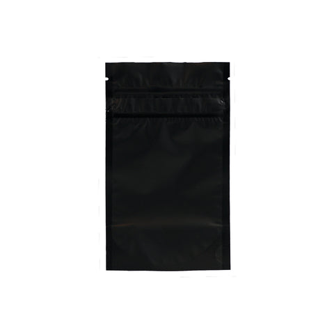1/8 Ounce Child Resistant Barrier Bags Black - 100 units - weed packaging and beyond