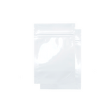 1 Gram Mylar Barrier Bags White - 100 units - weed packaging and beyond