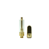 1 ml Metal Tip Glass Cartridge Gold - 100 units - weed packaging and beyond