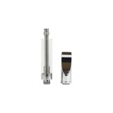 1 ml Glass Cartridge Flat Tip Silver - 100 units - weed packaging and beyond