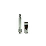 1 ml Metal Flat Mouth Piece Glass Cartridge Silver - 100 units - weed packaging and beyond