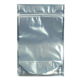 1 Ounce Mylar Barrier Bags White/Clear - 100 units - weed packaging and beyond