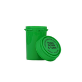 20 Dram Reversible Cap Vials Child Resistant Green - 240 units - weed packaging and beyond