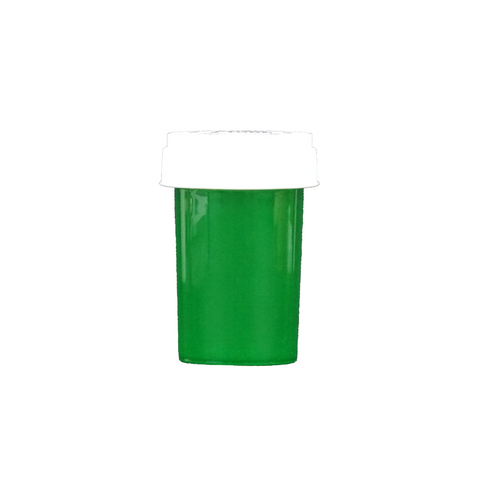 20 Dram Reversible Cap Vials Child Resistant Translucent Green - 240 units - weed packaging and beyond